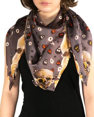 Mila & Such Bare Bones Silk Chiffon Scarf - Large
