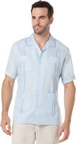 Cubavera Big & Tall 100% Linen Short Sleeve 4 Pocket Guayabera