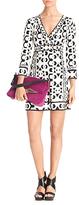 Diane von Furstenberg Noona Silk Jersey Dress In Hex Maze Black