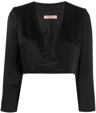 Twin-Set Open Cropped Jacket