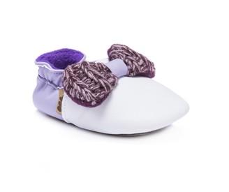 Muk Luks Girls Baby Soft Shoes-Plum Mary Jane Flat