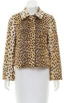 By Malene Birger Faux Fur Cheetah Print Jacket