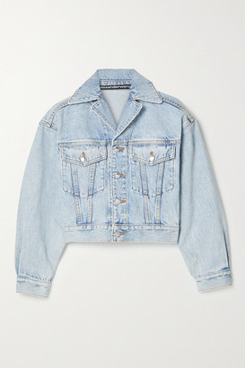 Alexander Wang Cropped Denim Jacket - Light blue