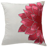 Blissliving Home Mexico City Collection Dahlia Embroidered Silk Pillow