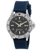 Timex Men's Sport T2P032 Blue Silicone Analog Quartz Watch with Blue Dial