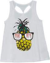 DKNY Girls' Pineapple Tank
