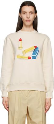 Lanvin Off-White Scented Lipstick Sweatshirt