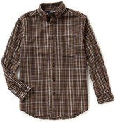 Roundtree & Yorke Casuals Big & Tall Long-Sleeve Gingham Flannel Sportshirt