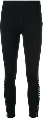 DKNY SPORT logo stripe leggings