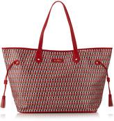 Sam Edelman Octavia Coated Canvas Tote Bag, Red