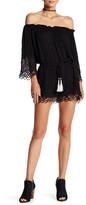 Young Fabulous & Broke Sloan Crochet Long Sleeve Romper