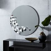 west elm Faceted Wall Mirror - Round