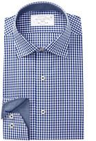 Lorenzo Uomo Trim Fit Gingham Check Dress Shirt