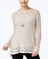 Jessica Simpson Darlanne Mixed-Knit Illusion Sweater