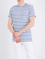 A.P.C. Michael striped cotton-jersey T-shirt