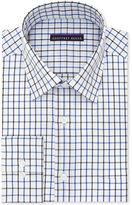 Geoffrey Beene Men's Bedford Cord Classic-Fit Blue Multi Check Dress Shirt