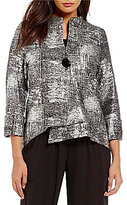 IC Collection Printed One-Button Asymmetrical Jacket