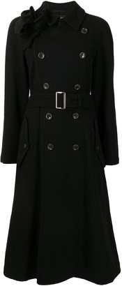 Comme Des Garçons Pre-Owned Double-Breasted Belted Trench Coat