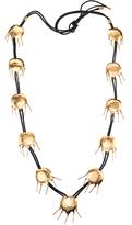 Josie Natori Gold Brass Tulip Necklace