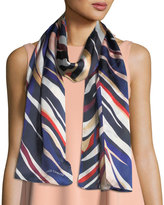 Vince Camuto Paint Stripe Oblong Scarf
