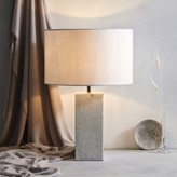 The White Company Marble Table Lamp, White Grey, One Size