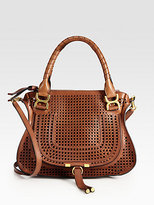 Chloé Marcie Medium Perforated Leather Shoulder Bag