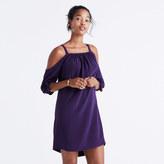 Madewell Silk Cold-Shoulder Dress