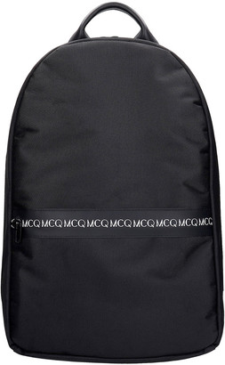 McQ Backpack In Black Polyamide