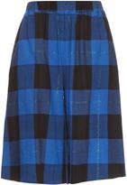 Maison Margiela Checked flannel culottes