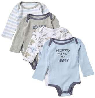Koala Baby Assorted Long Sleeve Bodysuits - Pack of 4 (Baby Boys 9-24M)