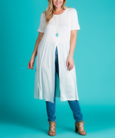 Ivory Multi-Way Tunic - Plus