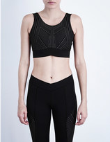 Ivy Park reflective cross-over cropped top