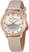 Lucien Piccard Rose Gold & Beige Bellaluna Crystal Leather-Strap Watch - Women
