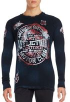 Affliction Reversible Long Sleeve Cotton Tee