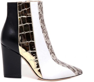 Sergio Rossi Animal Print Ankle Boots