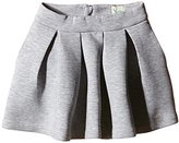 Yumi Girl's Neoprene Box Pleat Skirt
