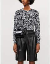 Claudie Pierlot Tenace leopard-print cotton-blend sweatshirt