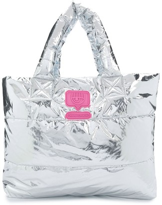 Chiara Ferragni Flirting laminated tote bag