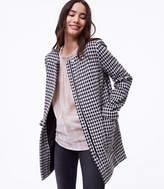 LOFT Brushed Check Coat