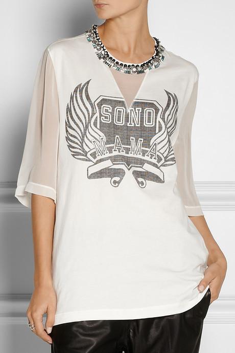 3.1 Phillip Lim Sono Mama embellished cotton-jersey T-shirt