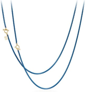 David Yurman Bel Aire Chain Necklace in Black with 14K Gold Accents