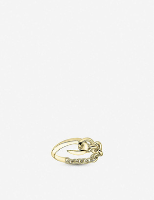 Shaun Leane Hook Chain yellow gold-plated silver vermeil ring