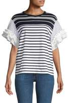 Clu Striped Pleated Tee