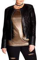 City Chic Plus Size Women's Wild Heart Faux Leather Jacket