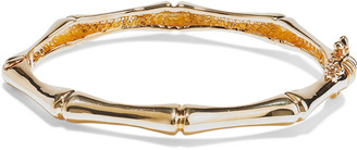 Noir 14-karat Gold-plated Bangle