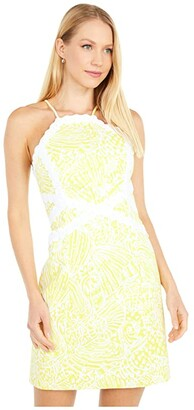 Lilly Pulitzer Pearl Stretch Shift (Lillys Lemon Sea Cups) Women's Dress