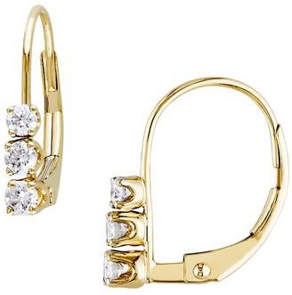 Sonatina 14K Yellow Gold Diamond Leverback Earrings