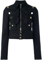 Givenchy cropped military jacket - women - Polyamide/Viscose/Wool - 38