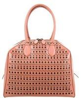 Alaia Laser-Cut Leather Handle Bag