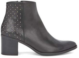 Mint Velvet Ottilie Black Stud Ankle Boots